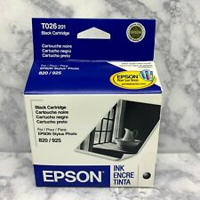 EPSON 820 925 T026-201 Stylus Photo Black Genuine Ink Cartridge Exp 08/2007