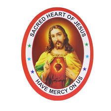 Sacré Coeur de Jésus Have Mercy sur nous recto-verso AUTOCOLLANT fenêtre 9.2CM