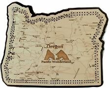 Oregon State Shape Road Map Cribbage Board