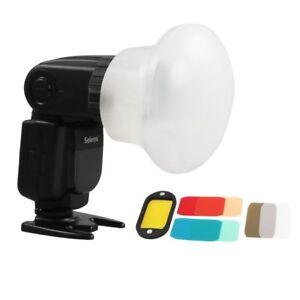 Selens Magnetic Flash Modifier Sphere Diffuser Filter Gel Fr Canon YongNuo Flash