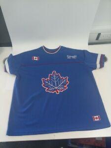 TeePee XL Canada Sports Ice Hockey Jersey Blue #546