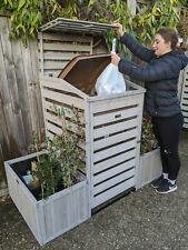 BinGarden Wheelie bin Garbage Cover Trash storage can store curbside recycle box