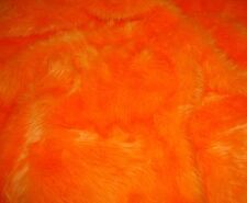 "Faux Fur Fake Orange  shaggy long pile upholstery custom fabric BTY 60"" wide"
