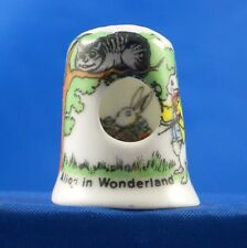 Birchcroft China Thimble -- Peephole -- Alice in Wonderland -- Free Dome Box