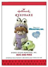 2013 Hallmark Precious Moments Boo and Mke Monsters Inc Porcelain Ornament