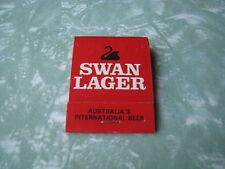 SWAN LAGER VINTAGE OLD RARE UNUSED MATCHBOOK MATCH BOOK - MINT