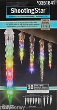 Gemmy 10 Multi Color LED LightShow Shooting Star Icicle Lights NIB
