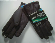 Isotoner Mens Smartouch Touchscreen Texting Matrix Gloves Black MEDIUM NWT