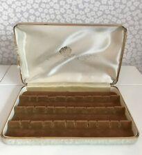 Vintage LG Earring Storage Hard Case Box Travel ~ holds 15 pairs studs