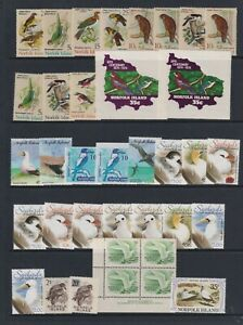 Norfolk Island - Small Collection of 53 x Bird Stamps - Mint & Used