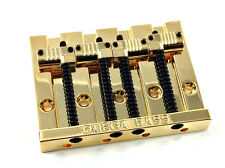 Gold OMEGA Grooved Bass Bridge for Top Load Fender P/Jazz Bass® BB-3351-002
