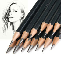 14Pc Black Sketch Drawing Pencil Set 12B 10B 8B 7B 6B 5B 4B 3B 2B 1B HB 2H 4H 6H