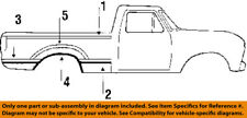 FORD OEM 84-86 F-150 Side Molding-Molding Trim Right EOTZ9929164A