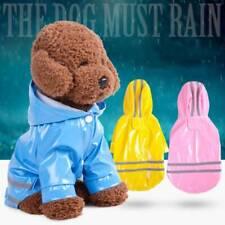 Pet Dog Puppy Hooded Reflective Rain Cover Raincoat Waterproof Jacket Raincover