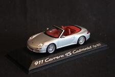 Minichamps (DV) Porsche 911 Carrera 4S Cabriolet 1:43 Silver / Brown int. (HB)