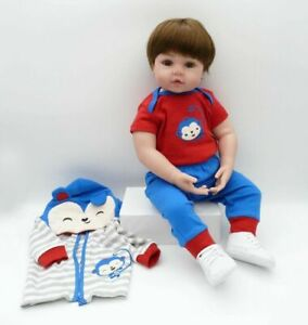 Lovely Baby Doll Reborn Dolls 18'' Silicone Cotton Body Doll Play  Children Toys