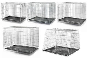 Trixie Dog Cage Pet Metal Crate Home Foldable Easy Clean Double & Single Kennel