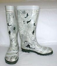 BEARPAW Women's White/Black Waterproof Rain Boots Size 8