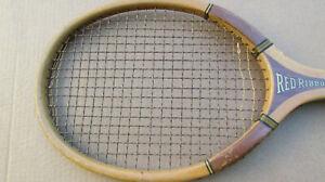Antique 1920's RED RIBBON CHAMPIONSHIP wood Tennis Racket vintage racquet RARE