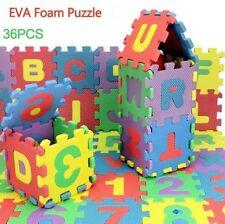 36pc Children Mini Puzzle Kid Educational Alphabet Letters Numeral Foam Mat ToyS