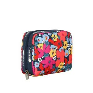 LeSportsac Classic Square Cosmetic Make Up Bag in Bright Isle Floral NWT