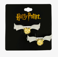 Harry Potter Movie Golden Snitch Quidditch Wizarding World Hair Clips NEW Rare