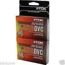 TDK MINI DV DIGITAL VIDEO CASSETTE 60 MIN. (2 PACK) NEW SEALED - FREE SHIPPING