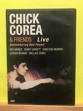 Pre-owned ~ Chick Corea  Friends: Remembering Bud Powell Live (DVD, 1999)