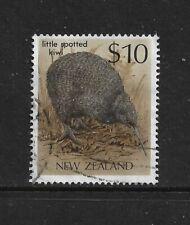 NEW ZEALAND 1989 Bird, $10 Little Spotted Kiwi, No.1, used