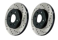 StopTech Sport Drilled Rear Brake Rotors 17-18 BMW 330i