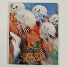 1996 Miami Hurricanes Football Program Media Guide Orange Bowl VTG 90s