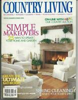Country Living Magazine March 2001 Simple Makeovers Cover/Spring/Garden/Cooking