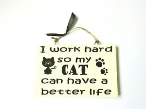Cats Dogs Pets Quote Sign Wall Plaque Home Decor Funny Pet Lovers Gift Idea