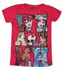 Disney Frozen Bambina Monster High Top T-Shirt manica corta età 6,7,8,9,10,12