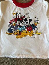 Disney T-Shirt Mickey Minnie Etc Ringer Tee Size S
