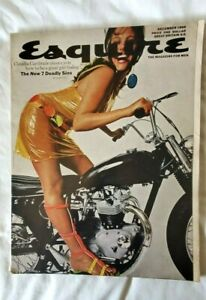 Esquire Magazine Dec 1966 Claudia Cardinale Motorcycle Great Ads Very Good Cond