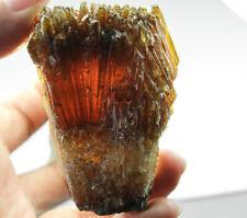 503Ct Natural Amber Calcite Quartz Crystal Honey Cluster Rough Specimen YGF8