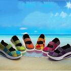 Women Fashion Sneaker Trainers Running Shoes Breathable Canvas Platform Wedges