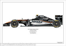 2015  Sergio Perez Force India VJM08  ltd ed. of 250 signed & numbered by artist