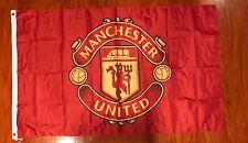 Manchester United Flag Banner 3x5 ft England Premier Futbol Soccer Team Fan