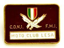 Spilla C.O.N.I. - F.M.I. Moto Club Lesa cm 2,5 x 3,5