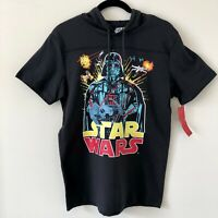 STAR WARS Vintage Retro Hoodie Shirt DARK VADER MEN'S SIZE: SMALL - New