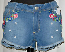 Floral Jean Shorts: Curvy 13/14 - NWT! Flowers Cute Trendy Colorful Hippie Boho