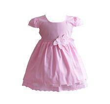 Bebé Niña Floral Vestido De Algodón Rosa Blanco Amarillo Azul 6 9 12 18 24 meses