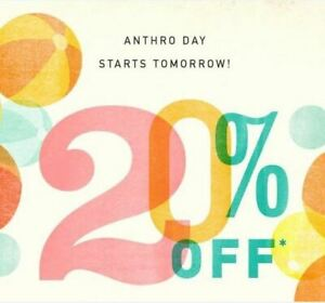 ANTHROPOLOGIE 20% OFF ***(1COUPON *CODE Expires 2/10/21 >>> Fast