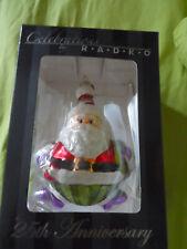 Christopher Radko Vintage Blown Glass Christmas Tree Ornament Santa