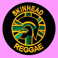Skinhead Reggae Ska Punk Jamaica Trojan Music Band Embroidered Iron On Patch