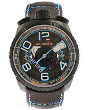 BOMBERG BOLT 68 CHOCOLATE BLUE 47mm CHRONOGRAPH AUTOMATIC MEN'S WATCH $3,495