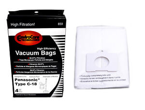 Envirocare High Efficiency Vacuum Bags For Panasonic Type C18 Canister Vacs 859