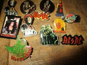 Lot 12 pin s collector -Série Hard Rock-Ac/dc-Guns roses-Motor head-Iron Maiden.